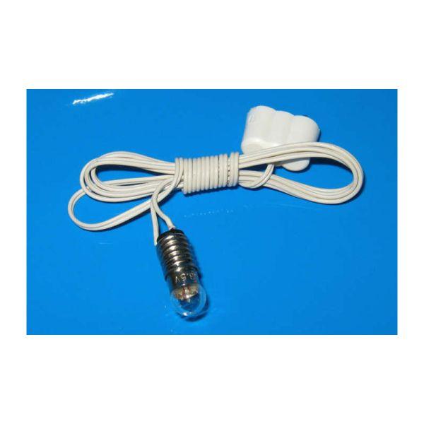 Kahlert 60804 Beleuchtung E5,5 Kabel + Stecker 3,5V für Puppenhaus