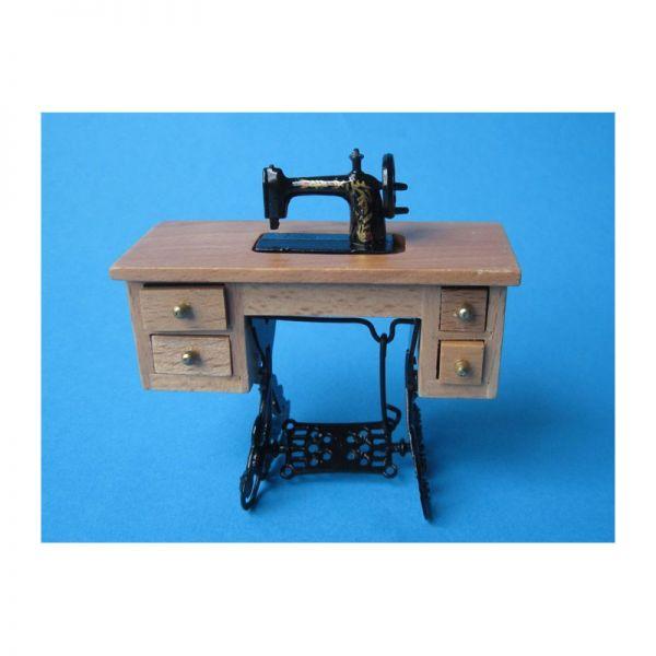 Creal 72581 alte Tret-Nähmaschine Holz/Metall 1:12 für Puppenhaus