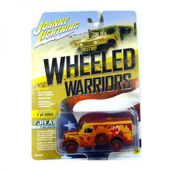 Johnny Lightning JLML005-B5 Dodge WC54 Ambulance gelb/rot matt - Wheeled Warriors Maßstab 1:64