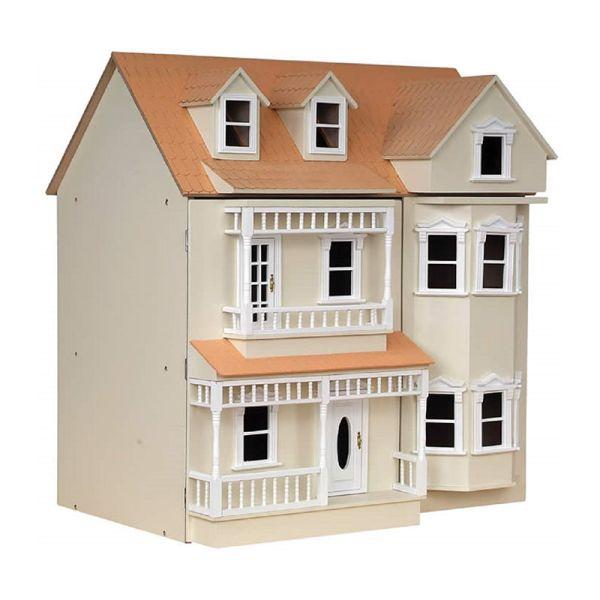 "SA-Dollshouse DH024P Puppenhaus ""Exmouth"" creme aus Holz"