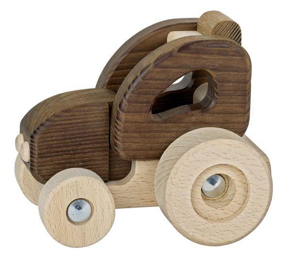 goki 55911 kleiner Traktor Naturholz Holz ab 2 Jahre geeignet