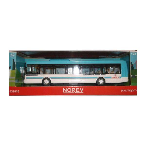 Norev 431010 Irisbus rot//weiß Modellauto Kunststoff  Maßstab 1:43 NEU °
