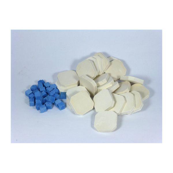 Creal 79945 Stein Mosaik Set weiss/blau 1:12 für Puppenhaus