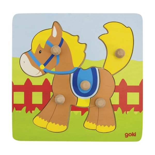 "goki 57555 Steckpuzzle ""Pferd"" Holz"
