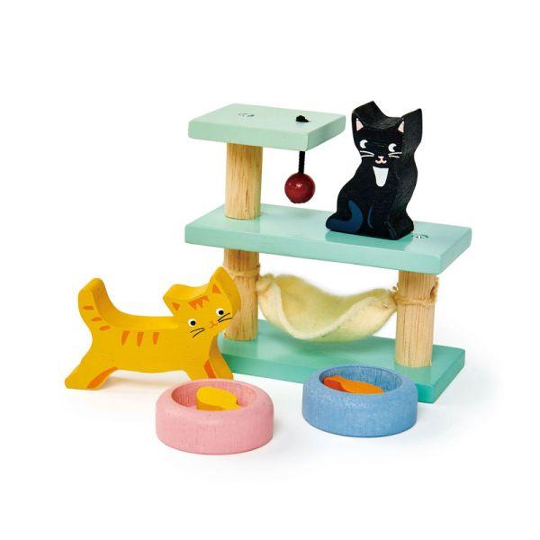 Tender TL8161 Katzen-Set aus Holz für Puppenhaus