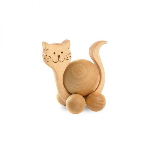 Waldfabrik 2105 Katze mit Buchenkugel Rolltier Rollies