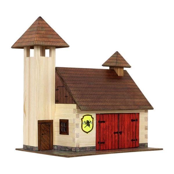 "Walachia W41 ""Feuerwehrhaus"" Modellbaukasten 1:32 Holz"
