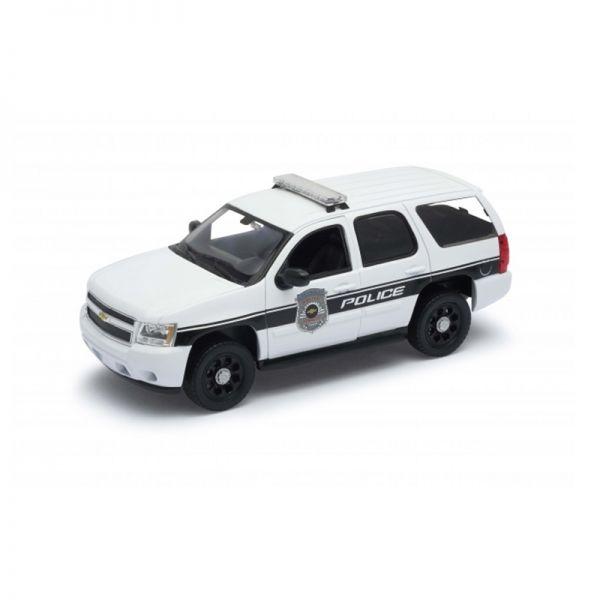 "Welly 22509 Chevrolet Tahoe ""Police"" weiss/schwarz Maßstab 1:24 Modellauto"