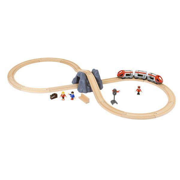Brio 33773 Eisenbahn Starter Set A für Holzeisenbahn