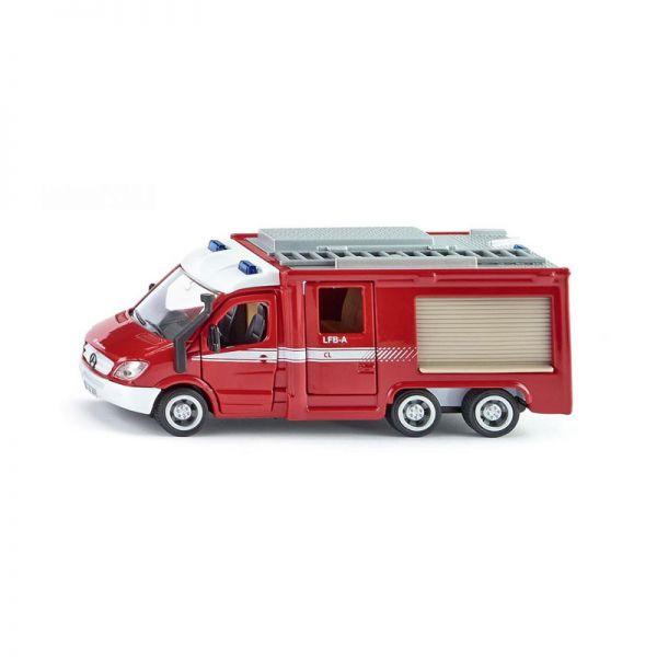 """Siku 2113 Mercedes Benz Sprinter 6x6 """"Feuerwehr"""" rot/weiß Maßstab 1:50"""