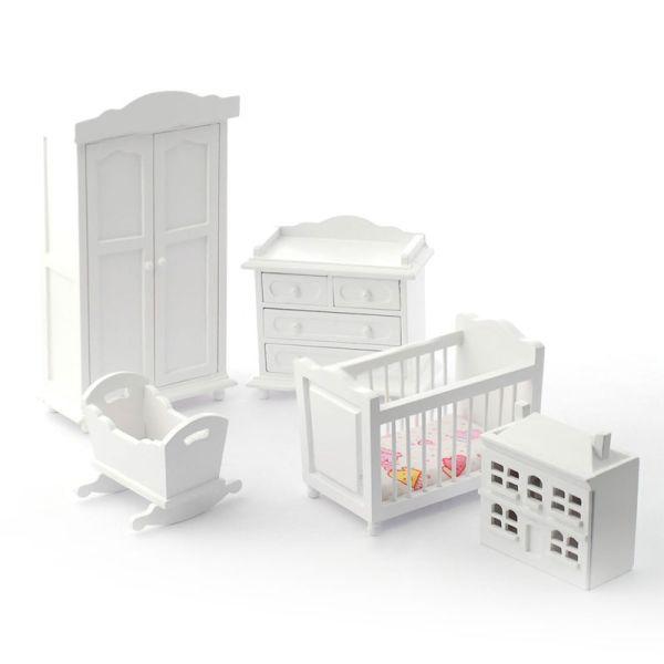 Dolls House 5961 Kinderzimmer Weiß 5 Teilig 112 Für Puppenhaus