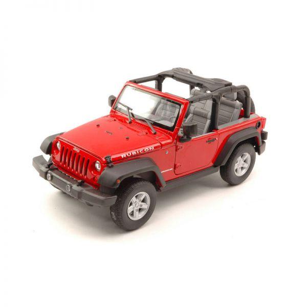 Welly 22489 Jeep Wrangler Rubicon rot 2007 open Maßstab 1:24 Modellauto