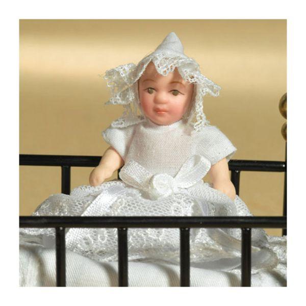 """Dolls House 5655 Puppe """"Baby Mabel"""" 1:12 für Puppenhaus"""