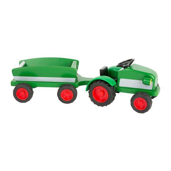 Legler 11006 Woodfriends Traktor mit Anhänger grün Holz