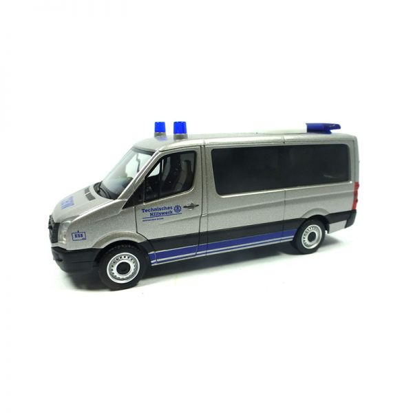 """Herpa 094306 VW Crafter """"Mannschaftstransportwagen THW"""" silber Maßstab 1:87"""