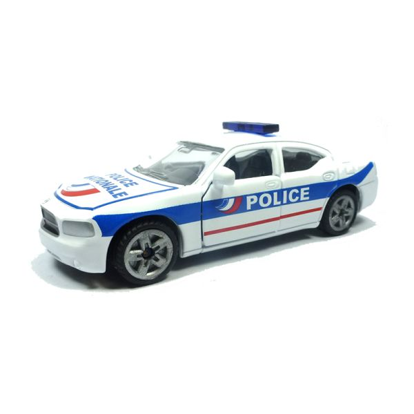 """Siku 1402 Dodge Charger """"Police Nationale"""" weiss/blau/rot (Blister)"""