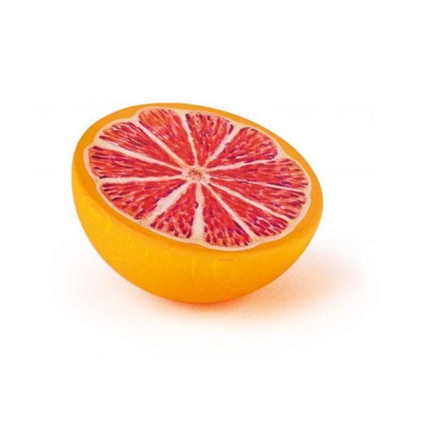 Erzi 11167 halbe Grapefruit Holz für Kaufladen und Kinderküche