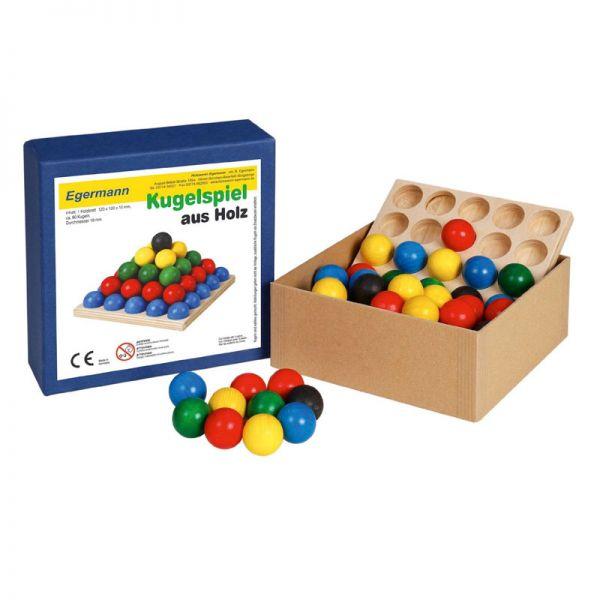 Egermann 2200 Kugelspiel aus Holz, Steckspiel, Stapelspiel