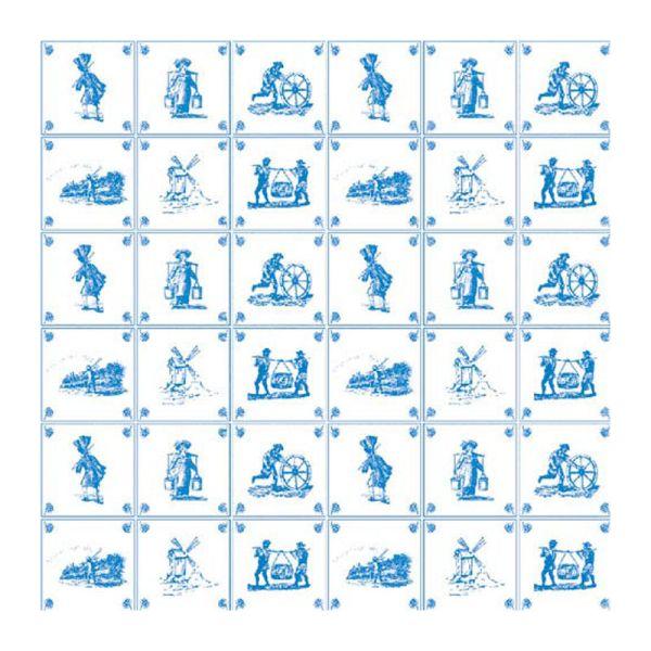 Dolls House 8247 Tapete blau/weiß Fließen 60x43 cm 1:12 für Puppenhaus