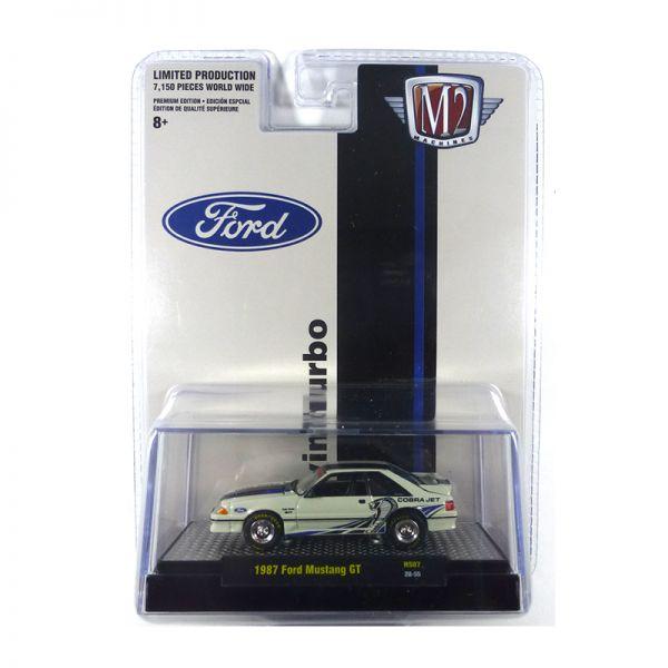 "M2 Machines 31500-HS07-20-55 Ford Mustang GT ""Cobra Jet"" weiss Maßstab 1:64"