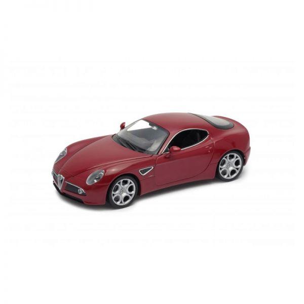 Welly 22490 Alfa Romeo 8C Competizione rot metallic Maßstab 1:24