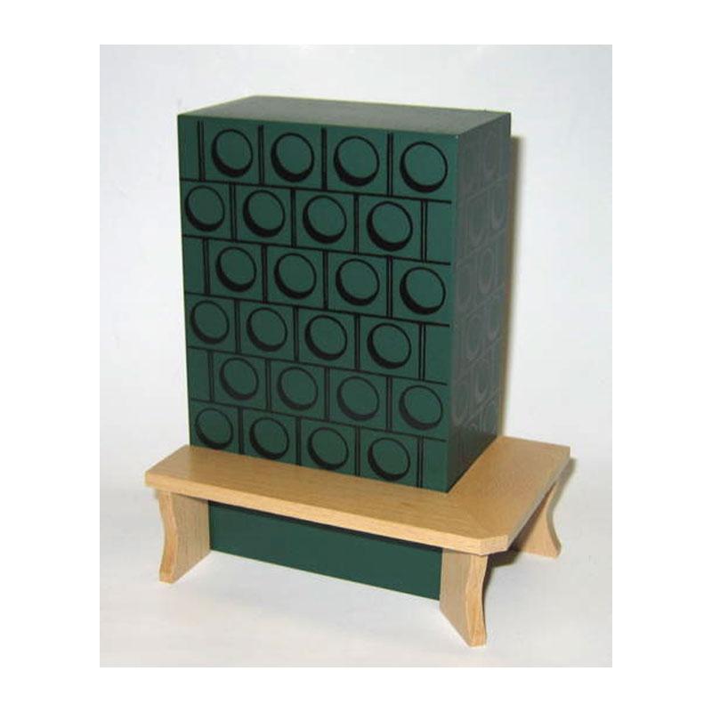 r lke 22105 kachelofen gr n mit bank k chenofen 1 12 f r puppenhaus k che m bel puppenhaus. Black Bedroom Furniture Sets. Home Design Ideas