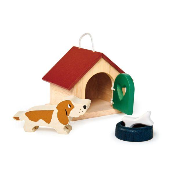Tender TL8162 Hunde-Set aus Holz für Puppenhaus
