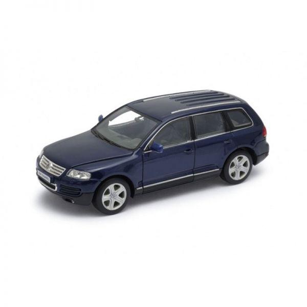 Welly 22452 VW Touareg dunkelblau Maßstab 1:24 Modellauto