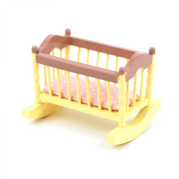 Dolls House 2166 Baby-Wiege creme/pink 1:12 für Puppenhaus