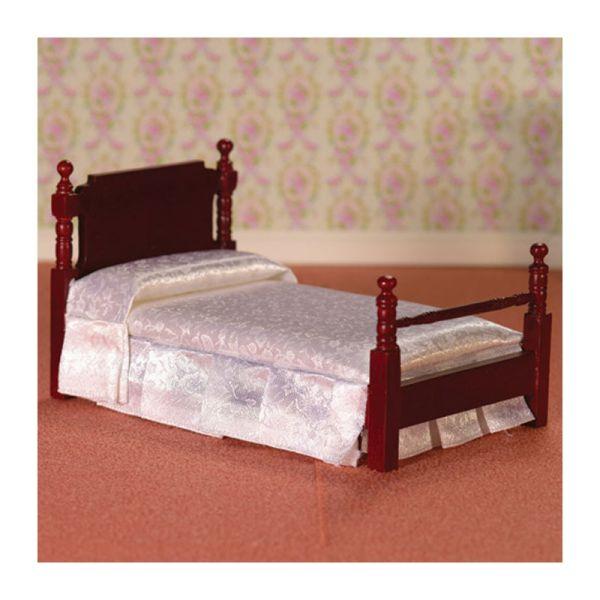Dolls House 2563 Bett Victorian Single Bed Mahagoni 1:12 für Puppenhaus