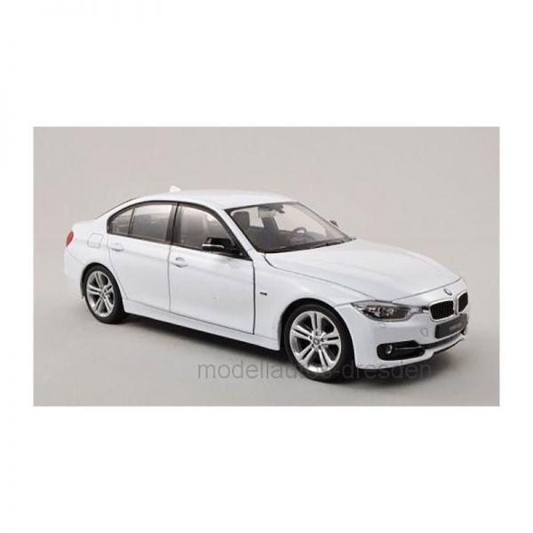 Welly 24039 BMW 335i (F30) weiss Maßstab 1:24 Modellauto