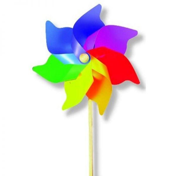 """Aurich 79955 Jumbo Windrad """"Regenbogen"""" Blatt, Holzstab, 110 cm lang Windmühle"""