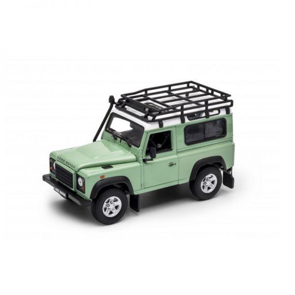 Welly 22498 Land Rover Defender grün/weiss Maßstab 1:24 Modellauto