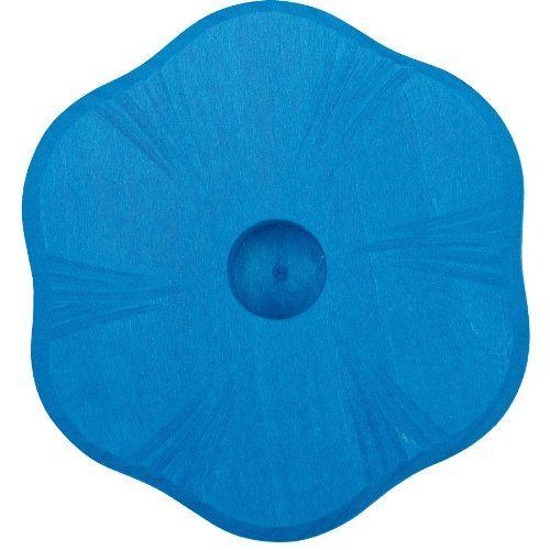 Glückskäfer 522856 Kerzenständer Blume blau Holz