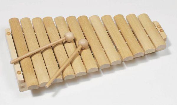 goki 61969 Xylophon natur 12 Noten Holz