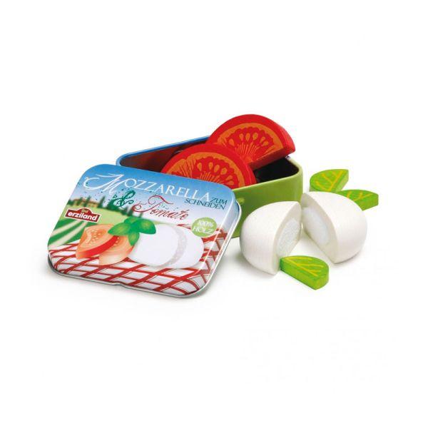 Erzi 17045 Mozzarella und Tomate in der Dose für Kaufladen