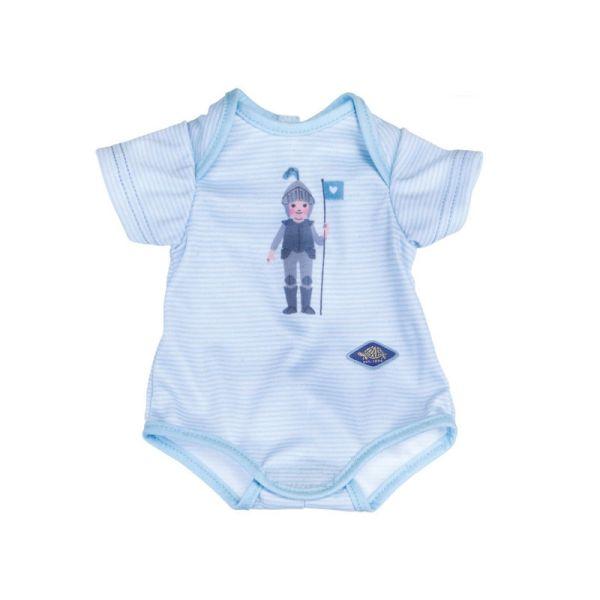 Schildkröt 651400007 blauer Body mit Ritter-Motiv für Puppen bis 36 cm