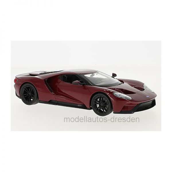 Welly 24082 Ford GT dunkelrot Maßstab 1:24 Modellauto