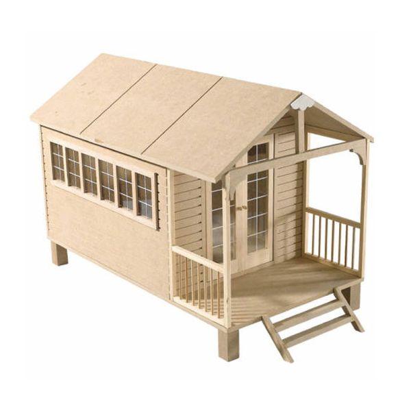 "Dolls House 1300 ""Summer House Kit"" kleines Puppenhaus Maßstab 1:12"