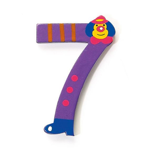 Legler 4682 Ziffer 7 Holzzahlen mit Clown