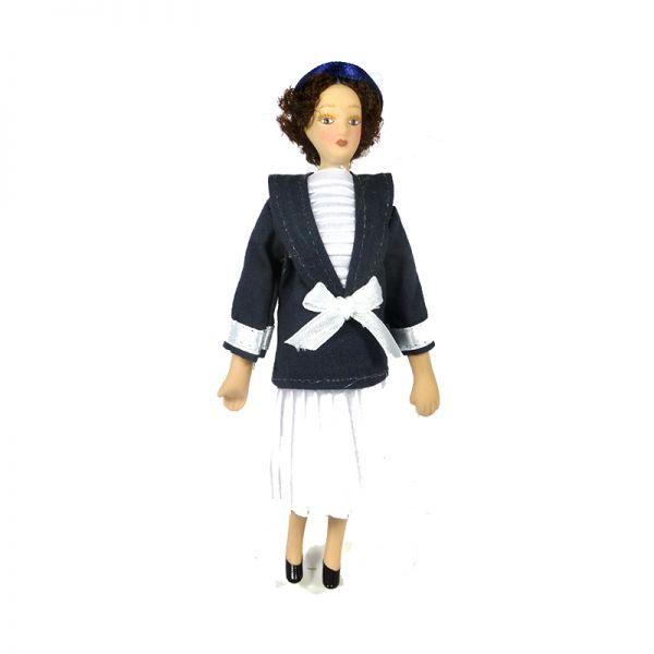 """Creal 2613 Puppe """"Seemannsfrau"""" Porzellan 1:12 für Puppenhaus"""
