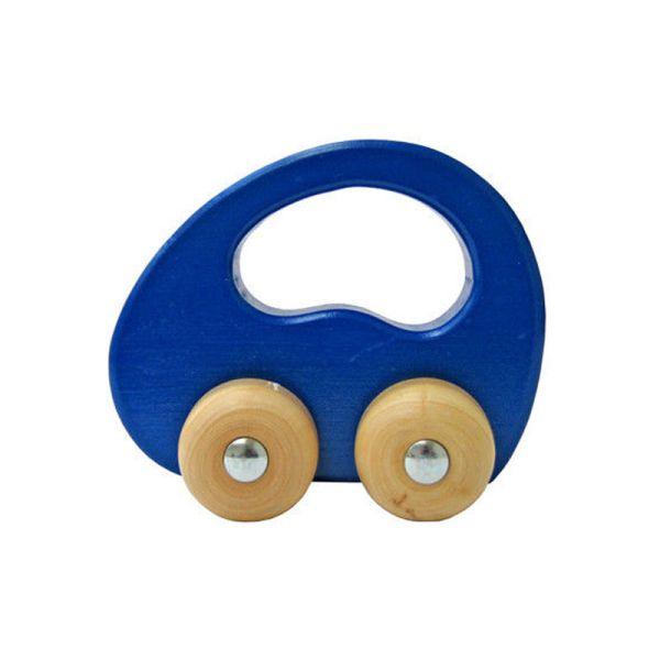 goki 55996 Greifauto blau Holzfahrzeug zum Rollen