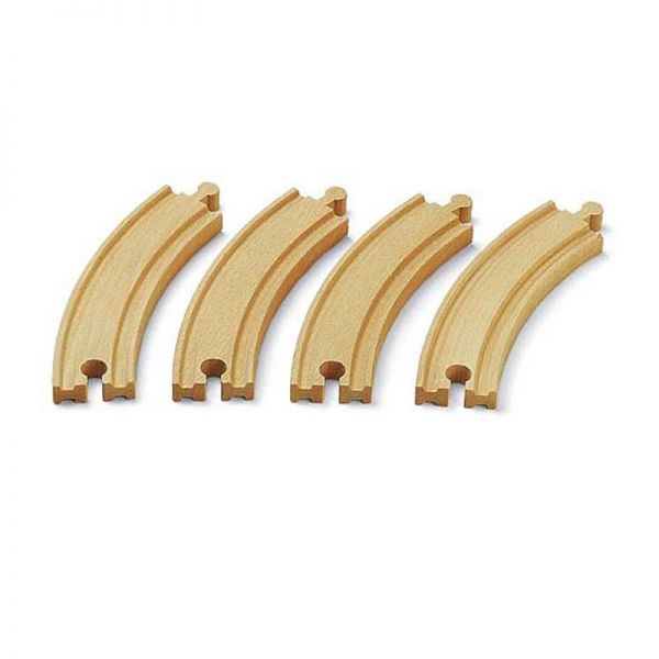 Brio 33342 1/1 gebogene Gleise Holz, für Holzeisenbahn