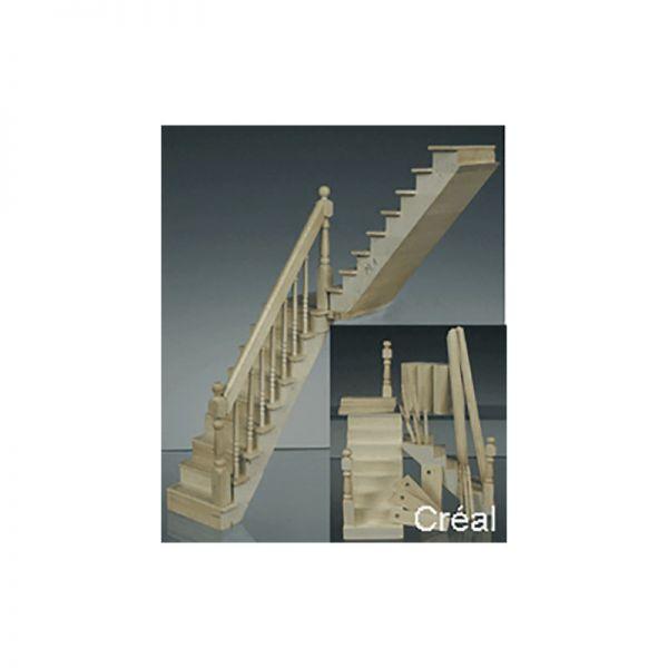 Creal 79838 Universalbausatz Treppe natur 1:12 für Puppenhaus