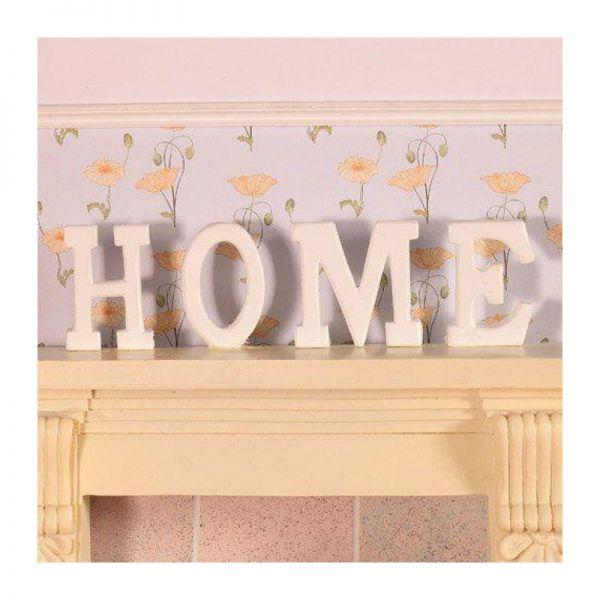 "Dolls House 3951 Schriftzug ""HOME"" aus Holz weiss 1:12 für Puppenhaus"