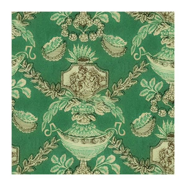SA-Dollshouse WP1025 Tapette grün/gold 29x42 cm 1:12 für Puppenhaus NEU!